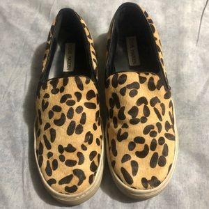 Steve Madden Cheetah Calf Hair Upper Canvas Tennis